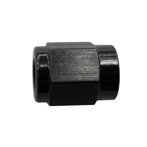 -3 AN Tube Nut, Aluminum, Black