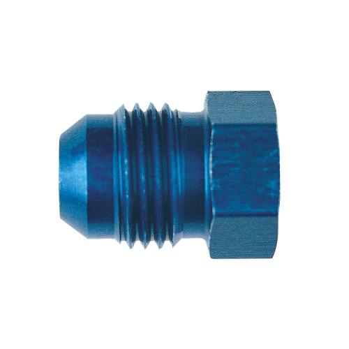 -10 AN Plug, Aluminum, Blue