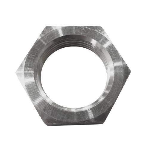 -12 AN Bulkhead Nut, Aluminum, Unanodized
