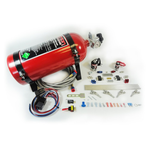Induction Solutions 4 Cylinder Nitrous Plumb Complete Kit, Red Bottle