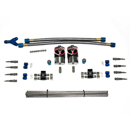Induction Solutions 19732-A Single Stage EFI Dry Nitrous Plumb Kit, 90 Degree Nozzles, Lightweight .120 Nitrous Solenoids