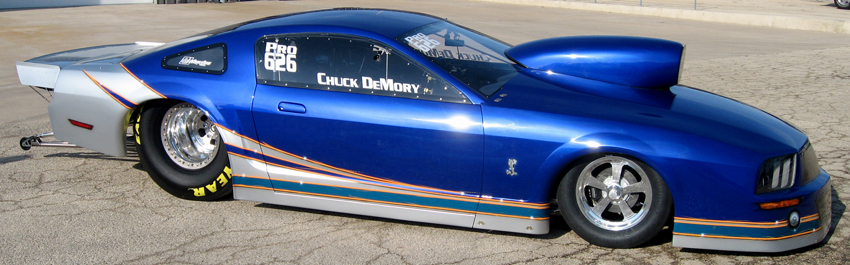 Chuck Demory 2008 Ford Mustang IHRA Pro Stock