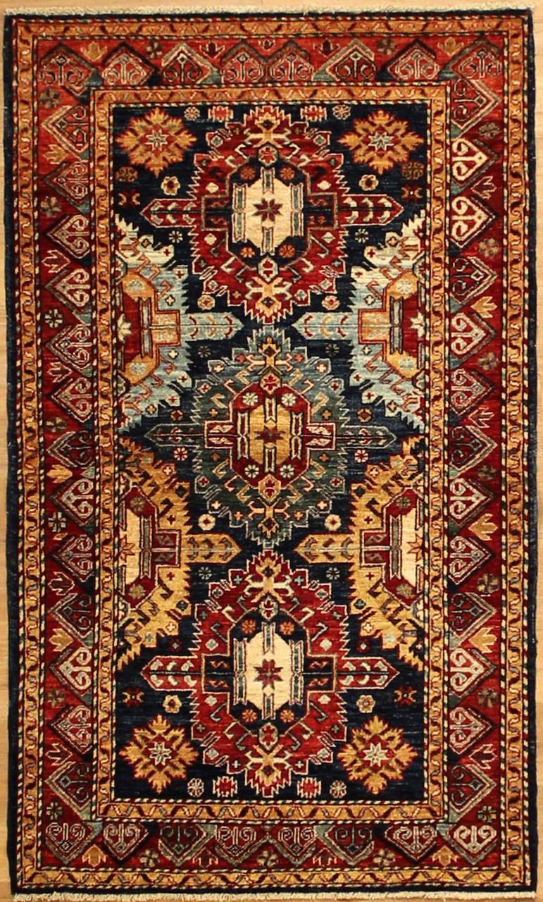 31 X 54 Afghan Bright Color Tribal Rug