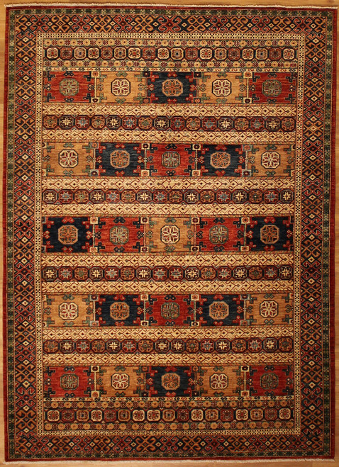 "6'2"" X 8'6"" Afghan Tribal Rug"