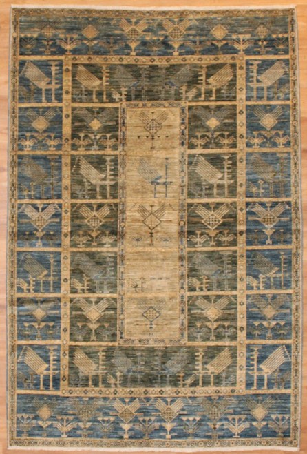 """5'1"""" X 7'8"""" Tribal design rug with new colors"""