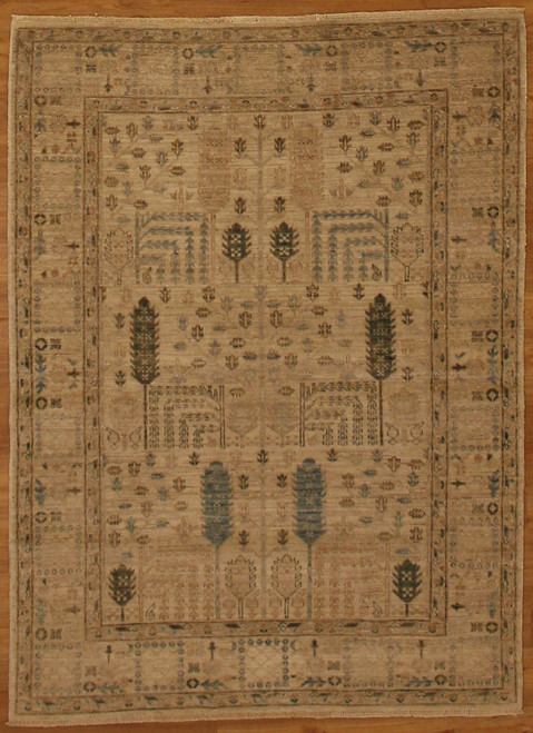 "4'9"" X 6'6"" Afghanistan Transitional design rug"