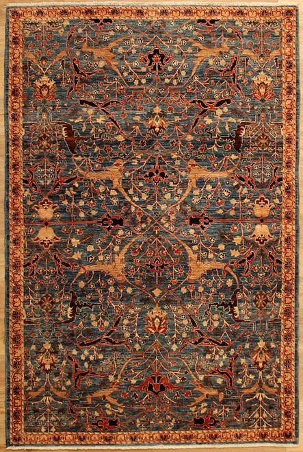 Antique Bijar design rug 4' X 6'1