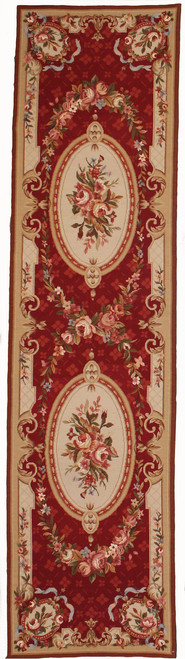 2'6 x 10' French Design Needlepoint Runner