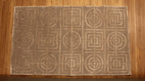 Square and Circle modern design rug 3' X 5'1