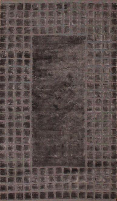 Dark gray contemporary design rug 3' X 5'