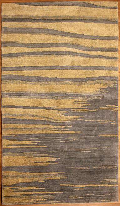 Modern design Tibetan 100 knot rug