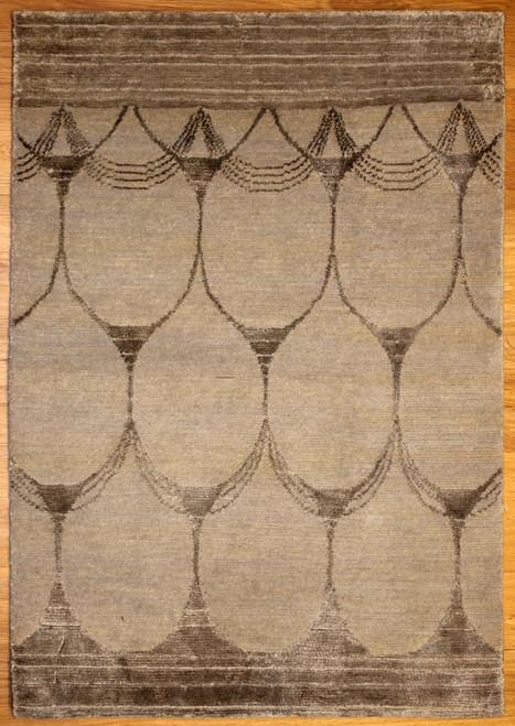 Modern design rug made in India.