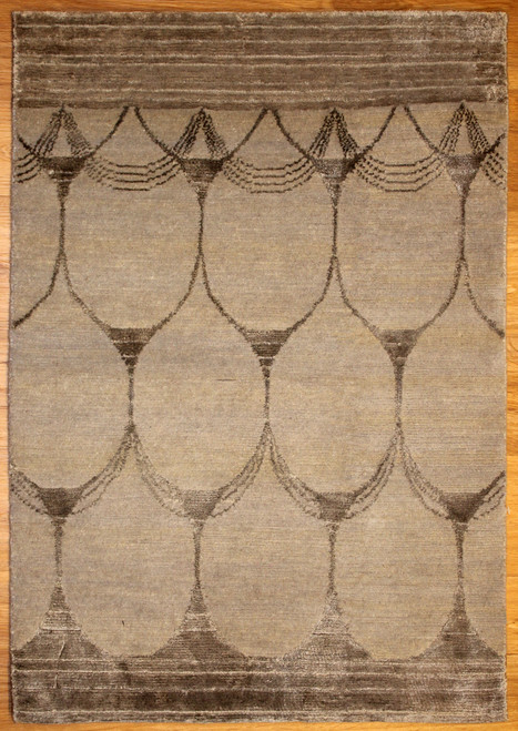 Modern design rug made in India.