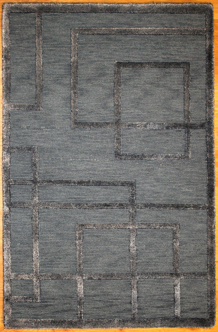 modern design rug made in Indian with wool and silk