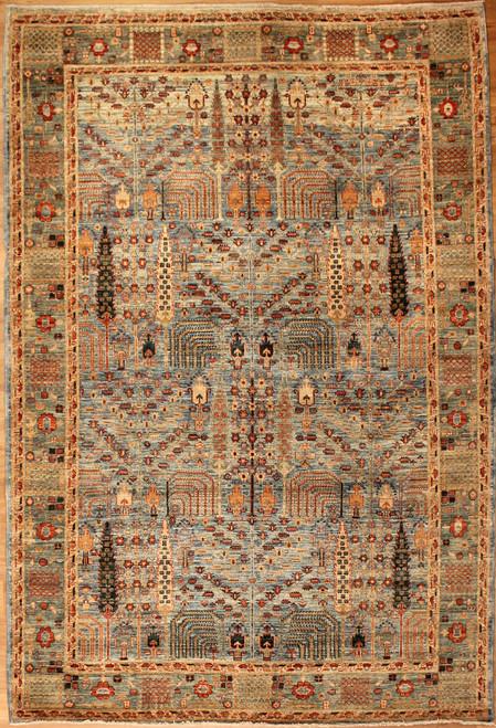 multi-color traditional design rug