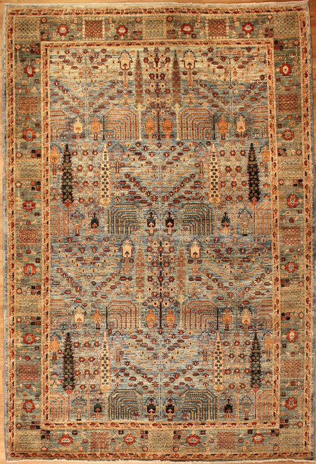 multi-color traditional design rug