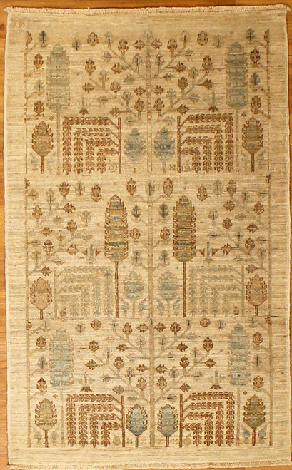 light color rug with faded traditional design