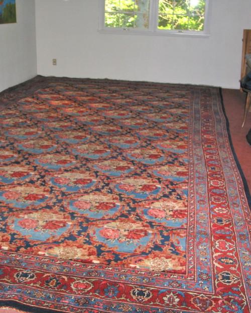 """10'11"""" X 18 Antique Persian Bijar"""