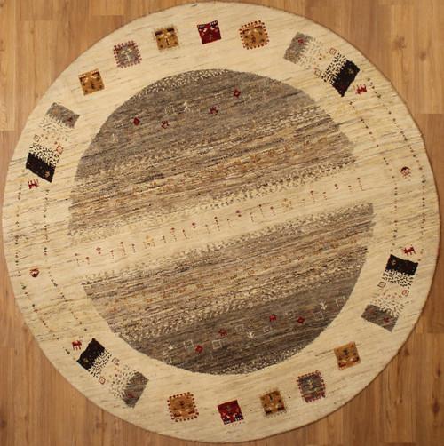 6' x 6' Round lori Gabbeh design rug