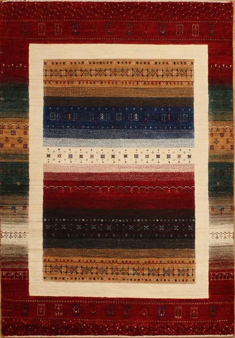 4'2 x 6'1 Lori Gabbeh design rug