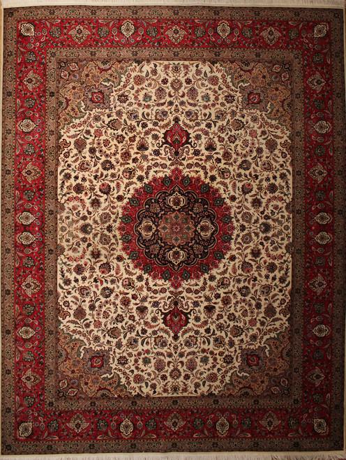 10' x 13'2 Persian Tabriz Rug