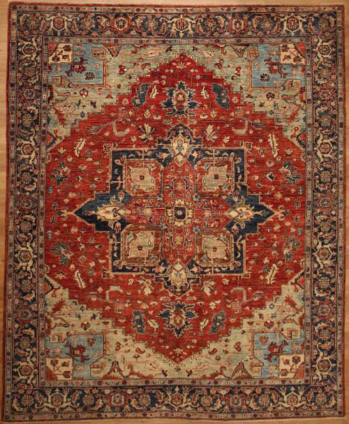 8'1 x 9'9 Heriz design rug
