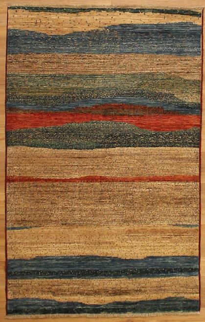 3'1 x 4'11 Modern Gabbeh Design rug