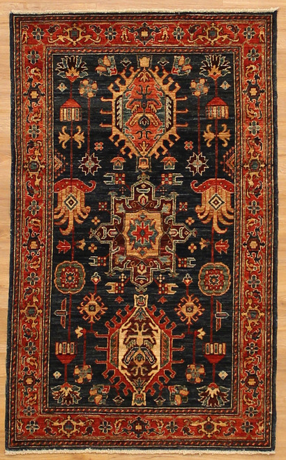 Navy Blue Karajah Design Rug