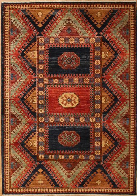 4'2 x 5'10 Caucasian design Rug