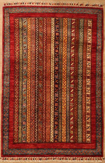 3'3 x 4'11 Geometric overall design rug