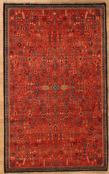3'2 x 5'2 Tribal design Indian rug