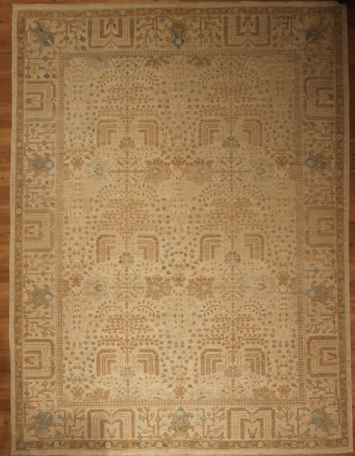 8'9 x 11'7 soft color overall design rug
