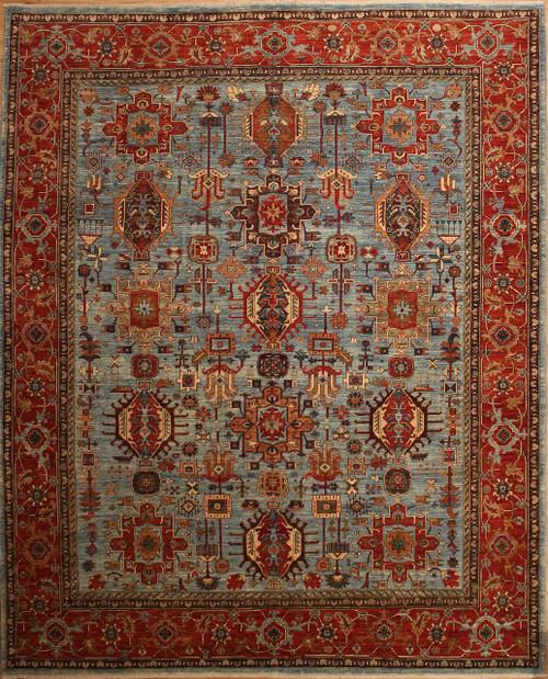 8'2 x 10'1 Karaja (geometric) Design rug