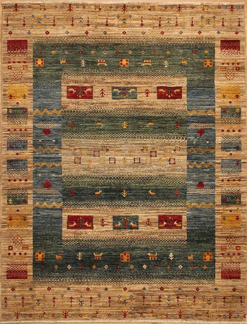 5' x 6'8 Gabbeh style rug