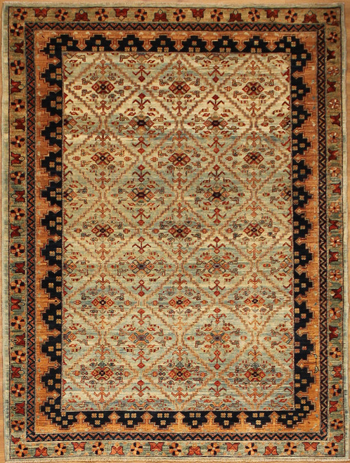 5' x 6'10 Repeated Pattern design rug