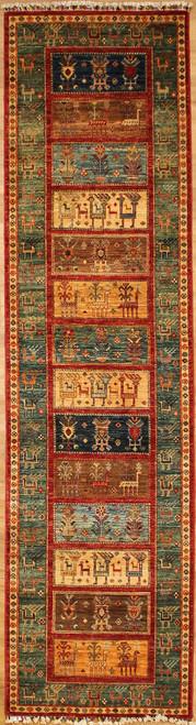 2'8 x 10'3 Gabbeh design rug