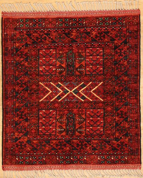 3'4 x 3'8 Turkmen design Rug