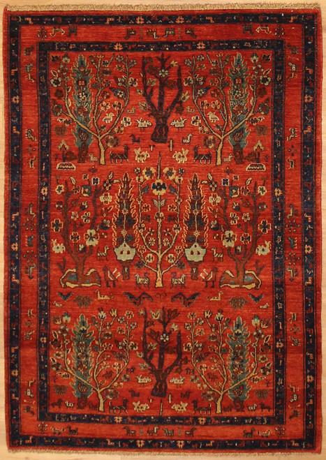 4'2 x 5'11 Tree design rug