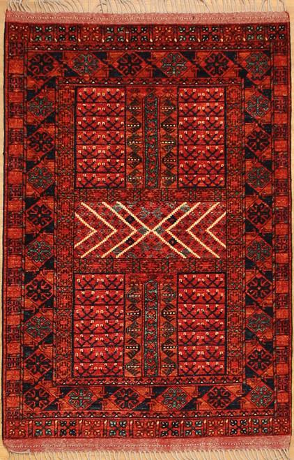 """3'11"""" x 5'9"""" Turkmen design Rug"""