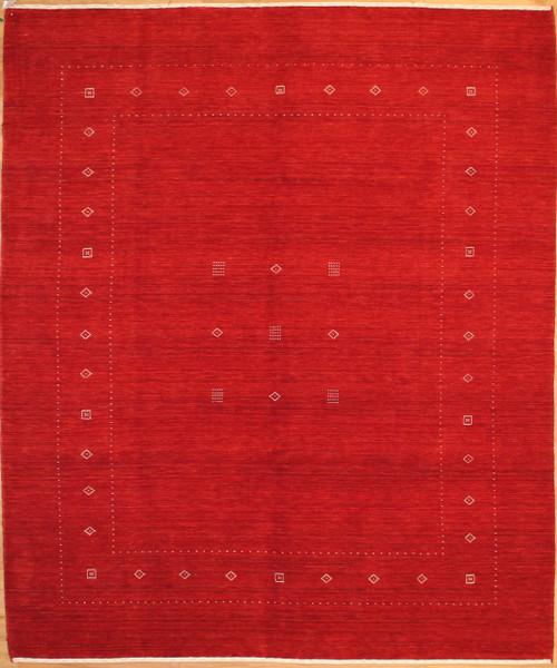 8' x 9'9 Gabbeh design hand loom rug