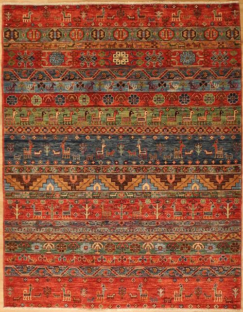 4'10 x 6'4 Geometric design rug