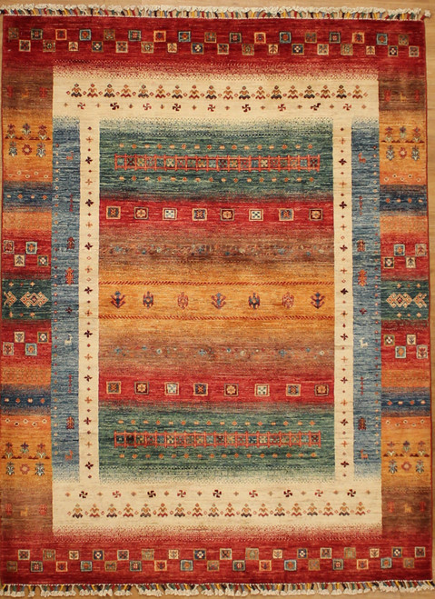 5'1 x 6'8 Gabbeh style rug