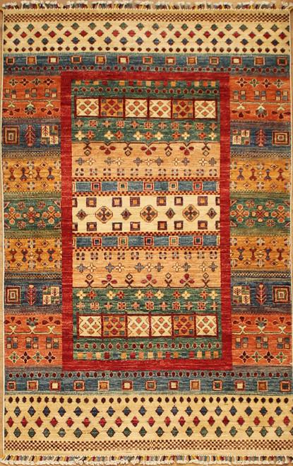 3'11 x 6'2 Gabbeh style rug