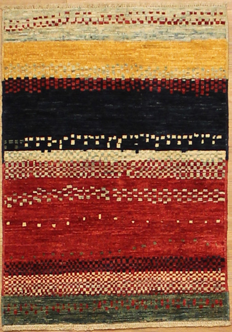 2' x 2'10 colorful Modern design rug