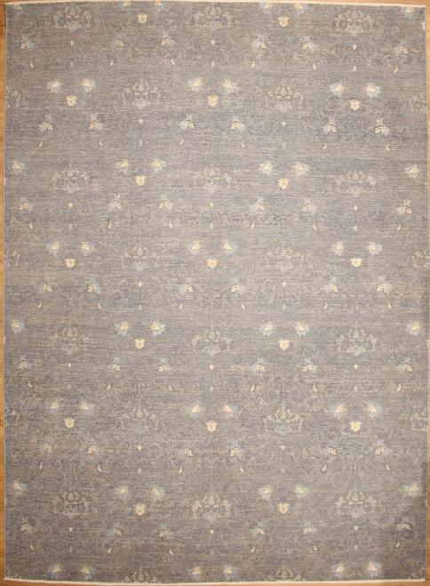 9' x 12'3 Indigo collection with silk