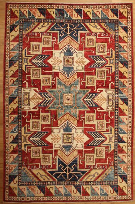 6'1 x 9'3 Caucasian design rug