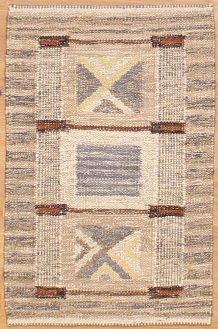 2' x 3' Swedish design Kilim