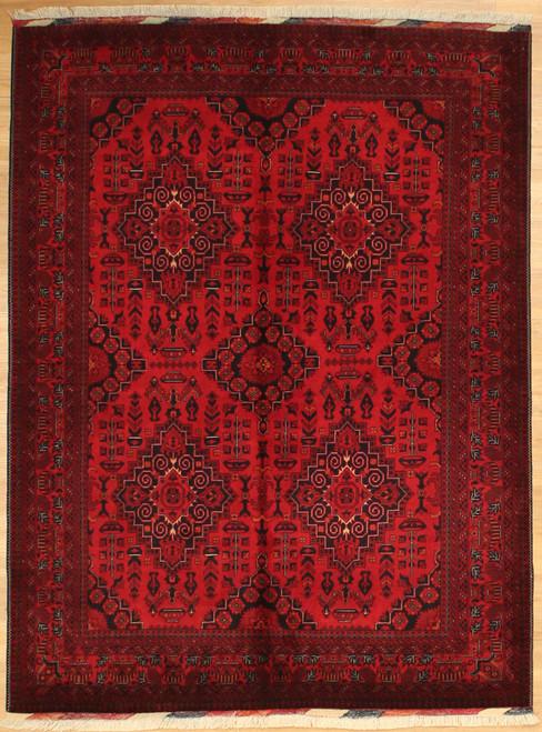 5'1 x 6'11 Fine weave Afghan rug