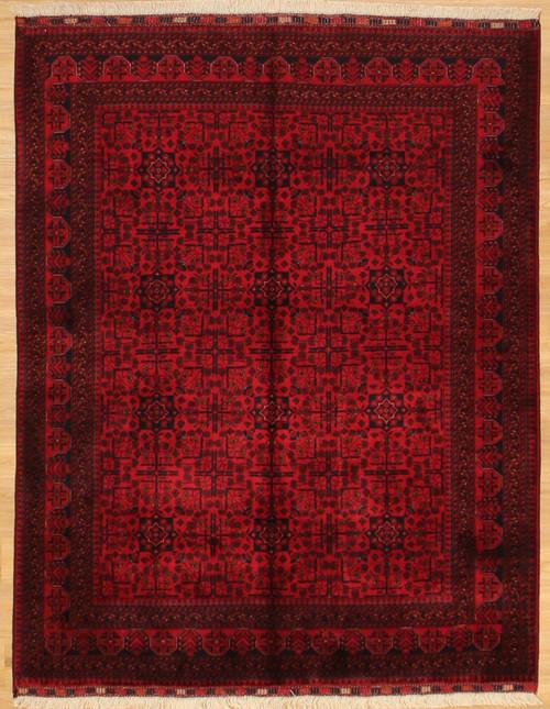 4'11 x 6'6 Fine weave Afghan rug