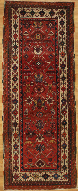3'10 x 9'10 Antique Karajeh Serapi wide Runner